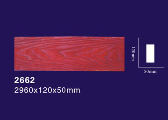 Ceiling Decorative Polyurethane Wood Beams Light Weight With Wood Grain Design