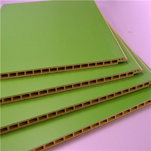 Green Color PVC Wall Cladding / Panel , Interior Wood Plastic Composite Board