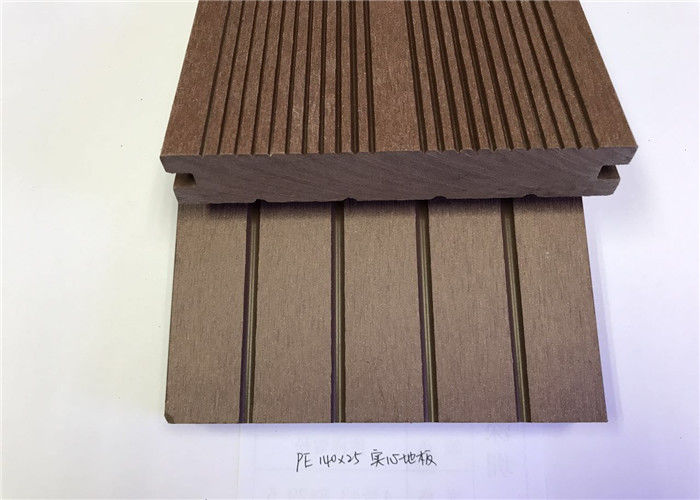 PVC / PE / Wood Plastic Composite Flooring Customized Length And Width For House